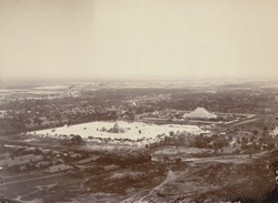General view of Mandalay showing the 450 Pagodas